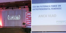 "Anca Vlad – Locul 1 in Top 100 Capital femei de succes, categoria ""Antreprenoriat"""