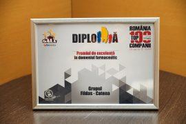FILDAS si CATENA Grup – Premiul de Excelenta la Gala Premiilor Romania Top 100 Companii 2016